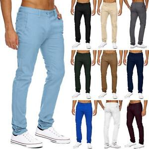 New-Mens-Chino-Pants-Cotton-Slim-Regular-Fit-Stretch-Casual-Designer-Trousers