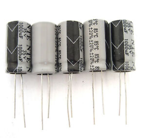 Great Price 10//Pack Small Size 47uF 50V Radial Lead Electrolytic Capacitors