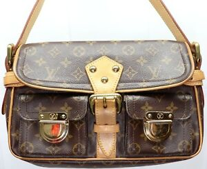 60bdd78f5c5 Image is loading Vintage-LOUIS-VUITTON-Hudson-PM-Shoulder-Bag-Monogram-