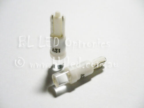 10x T5 74 24 Wedge Universal White Flat Top LED Light Bulbs Dash Instrument HVAC