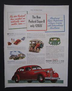 Details about 1938 Packard Super 8 for 1939 Original Vintage Print Ad