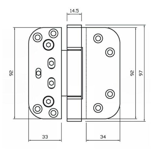 Nico Load Pro 4915 3D Adjustable Composite Door Hinge White