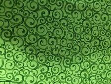 Patchwork Stoff Grüne Ranken  10x110