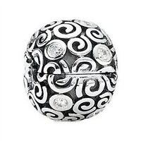 PANDORA 'Wind' Clip Charm Silver Clear Zirconia Jewelry