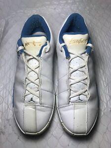 pick up 699e7 eb17c Image is loading Nike-Air-Jordan-TE2-White-Blue-Youth-Sneakers310087-