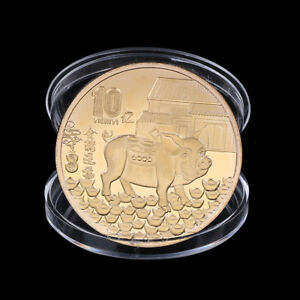 Year-of-Pig-Commemorative-Coin-Chinese-Zodiac-Gold-Plated-Coin-New-Year-Gifts-M-amp