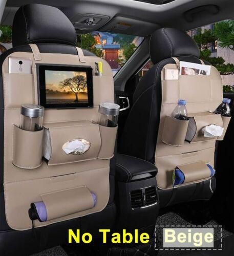 PU Leather Car Back Seat Chair Storage Organizer Multi-pocket Tray Organisateur