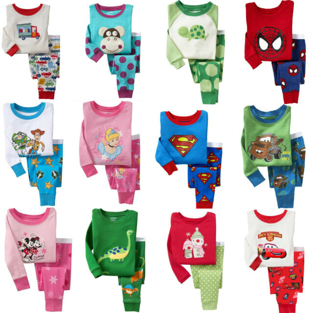1 Sets, 41 Styles of Sleepwear Pajama Sets for Toddler Kids Boys Girls Age 1T~6T