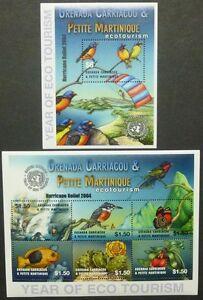 Ensoleillé Grenade Grenadines 2005 éco-tourisme Tourism Oiseaux 3780 3785 Bloc 597 Neuf Sans Charnière Prix ModéRé