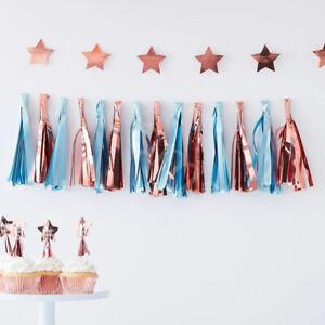 Blue-amp-Rose-Gold-Tassel-Garland-Baby-Shower-Party-Decoration-Boys-Birthday-1-5m