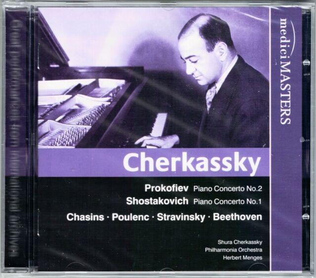 Shura CHERKASSKY: PROKOFIEV Piano Concerto No.2 SHOSTAKOVICH No.1 CHASINS MENGES