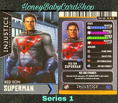 Injustice Arcade Series 1 Out of Print Card 90 Red Son Superman Holofoil