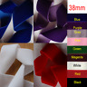 38mm Wide Thick Black Velvet String Ribbon 11 Colours Pink Purple White Red 1m