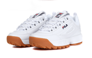 Details about FILA 2018 DISRUPTOR II 2 WHITE BROWN FS1HTA1072X UNISEX SHOES  US SZ