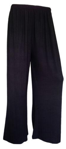 Femmes Palazzo Jambe Large Pantalon Dames Uni Évasé Leggings Grande Taille 8-26