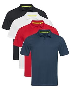 Active-sec-plain-homme-maille-en-polyester-respirant-sport-athletic-polo-shirt