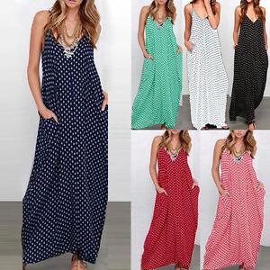 Women-Multi-Color-Boho-Long-Maxi-Plus-Size-Cocktail-Beach-Party-Dress-Sundress