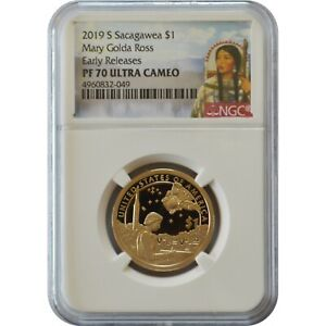 2019 S $1 Proof Sacagawea NGC PF70 UCAM ROCKET SHIP First Releases LIVE !!