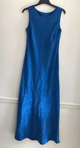 Monsoon-Ladies-Blue-Textured-Shimmery-Long-Party-Evening-Maxi-Dress-Size-12