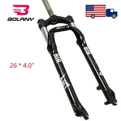 "BOLANY Fat//Snow//MTB Bike Fork 26*4.0/"" Suspension Fork 1-1//8/"" Beach//Fat Bike Fork"