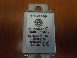 New Bussmann 170 M 1468 125 Amp Semiconductor Fuse 690 Volts NIB