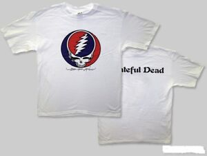 """GRATEFUL DEAD /""""Steal Your Face/"""" Licensed T Shirt-White-All Sizes"""