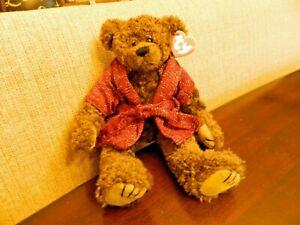 VINTAGE TY BEANIE BABIES RETIRED TYRONE TEDDY BEAR & ROBE with tag Attic Treas.