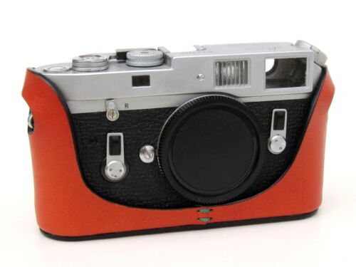 Leather Half Case for Leica M6 M7 MP M2 M3 Orange with or w//o selftimer