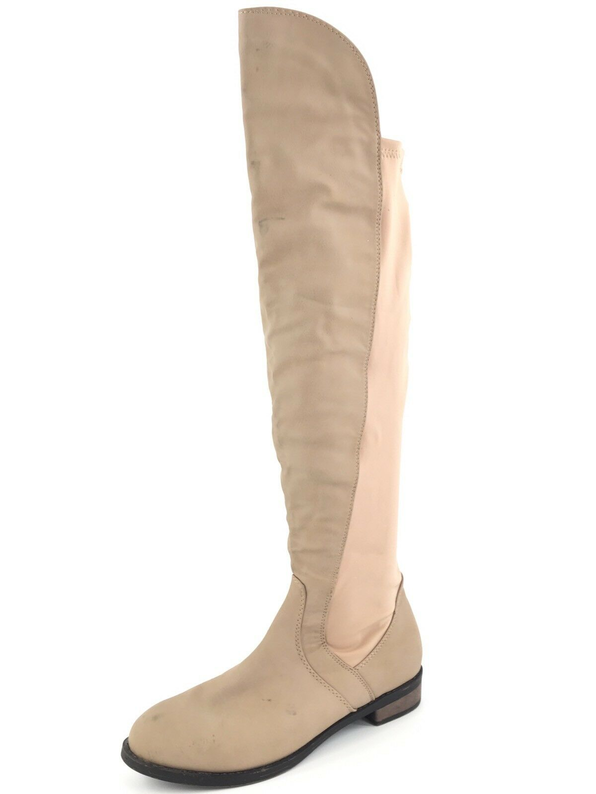 Chase And Chloe Moore Taupe Over The Knee Stretch Boots Womens Size 5.5 M