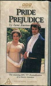 PAL-VHS-VIDEO-TAPE-PRIDE-AND-PREJUDICE-COLIN-FIRTH-1985-2-TAPES-BBC-1995