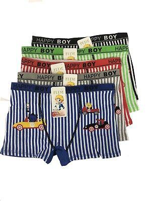 New Lot 6 Happy Boy Cotton Boxer Briefs #HF669