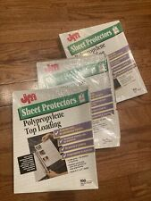 Jm Top Loading Sheet Protectors 85x11 3 Packs Of 100 Clear Archival 3 Hole Usa