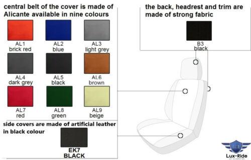 CITROEN C4 CACTUS LEATHER /& ALICANTE TAILORED SEAT COVERS