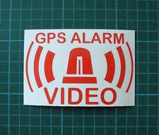 6 Stück GPS Alarmaufkleber VIDEO System gespiegelt für Innenseite, Freistehend