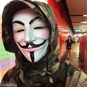 Halloween Mask 2020 V 2020 High grade Cosplay Guy Fawkes V FOR Vendetta Anonymous Mask