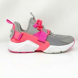 Nike-Womens-Air-Huarache-City-AH6804-007-Gray-Pink-Running-Shoes-Size-7-5