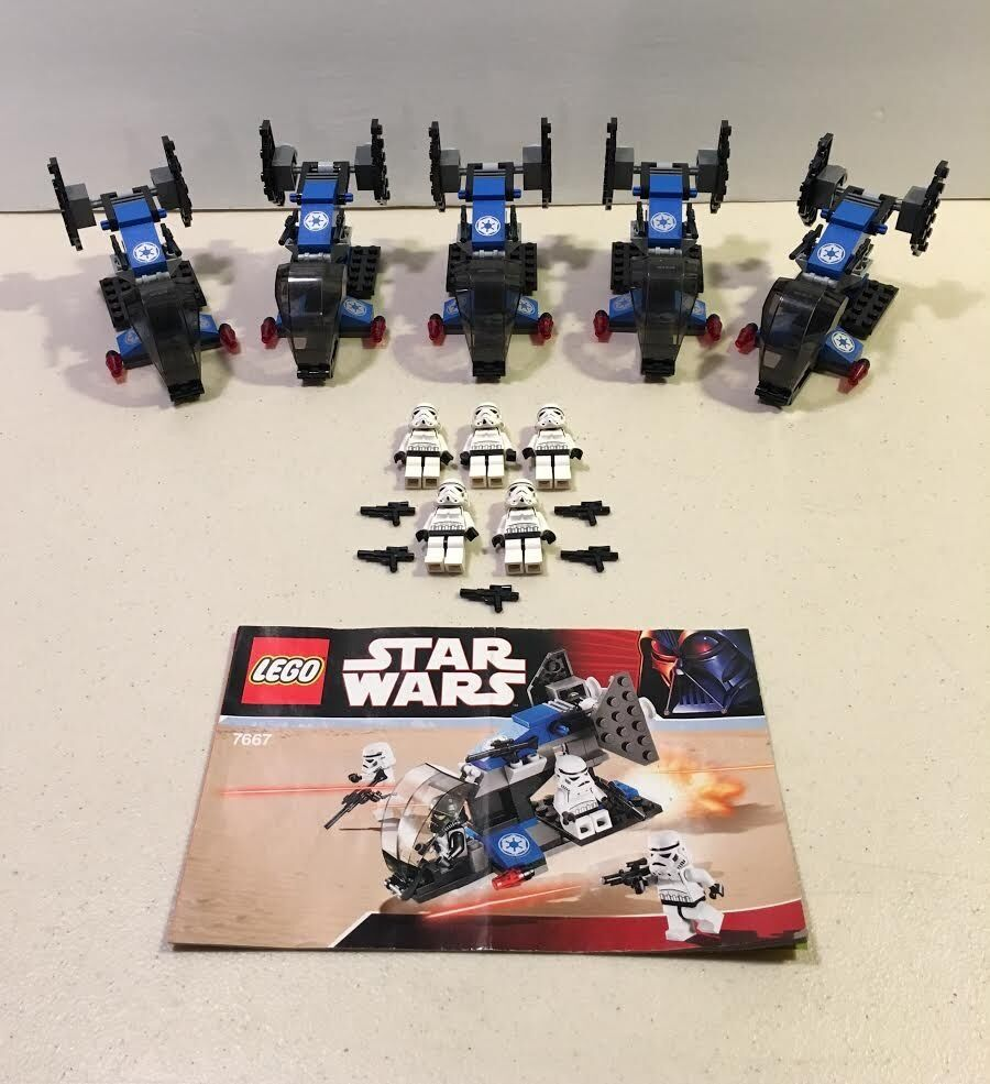 Lot of of of 5 Lego 7667 Star Wars Legends Imperial Dropship Stormtrooper 2008 bb3dc8