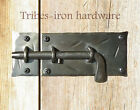 HAND FORGED SLIDE BOLT DOOR LATCH Cabinet Gate Shed Antique Wrought Iron Lock