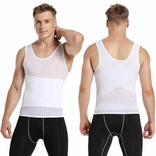Men Body Shaper Slimming Vest Compression Shirts Belly Tummy Control Underwear