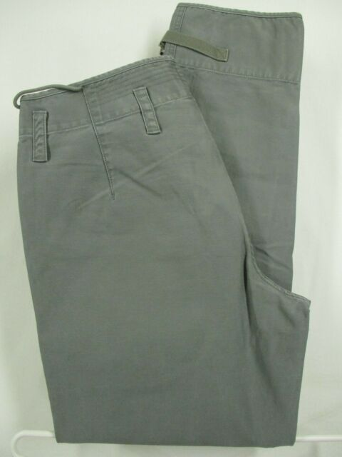 Wallace & Barnes Mens Olive Flat Front Cotton Flight Pants Size 32 34x30