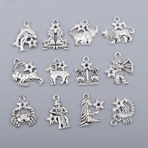Jewelry-Making-Charms-12-Pieces-Zodiac-Pendants-DIY-for-Necklace-Bracelet