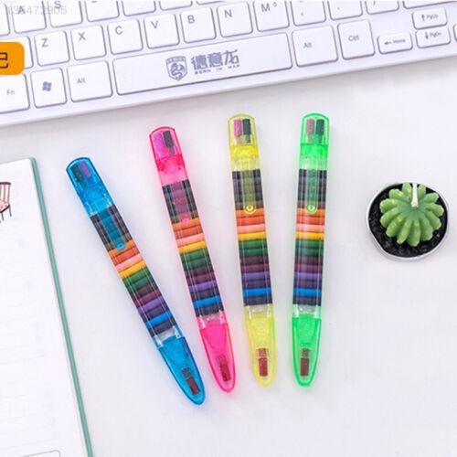 7DC6 Schule Buntstifte Süß Student 20 Farben Graffiti Buntstifte Briefpapier