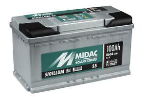 Midac Sigillum Starterbatterie S5 Plus 12V 100AH (High-Din Version) En (A): 850