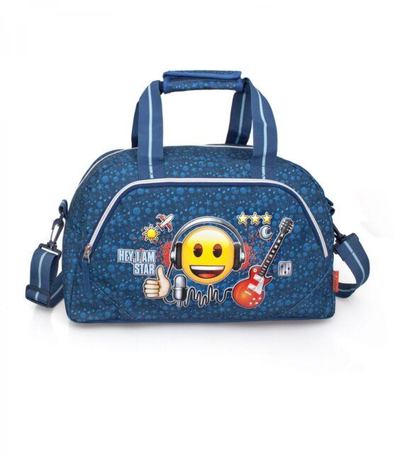 8cbded2632 EMOJI OFFICIAL Sports Travel Duffel Holdall Holiday School Gym Bag ROCK STAR