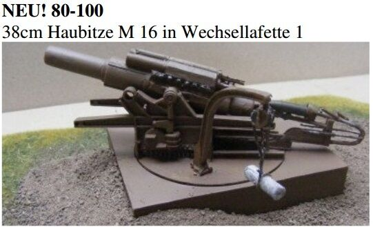 MGM 080-100 1 72 Resin WWI+2 German 38cm Howitzer M16-Carriage1 Firing Position