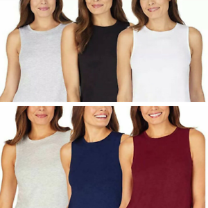 3 Pack Jane and Bleecker Women's Lounge Tank Top Soft Stretch Tagless Comfort