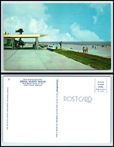 GEORGIA-Postcard-Jekyll-Island-Beach-G41