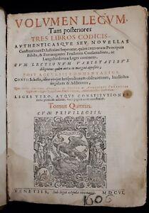 Corpus Iuris Civilis - Volumen Legum - Venetiis 1606 - Giustiniano