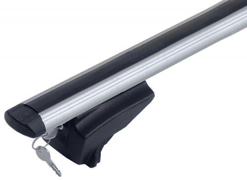 M-Way Lockable Aluminium Car Roof Rack Flush Rail Bars to fit Dacia Lodgy 2012+