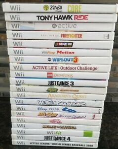 Nintendo-Wii-Lot-of-20-Video-Games-tony-hawk-Lego-lord-of-the-rings-fit-active